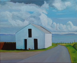 Panting of outhouse on Arranmore