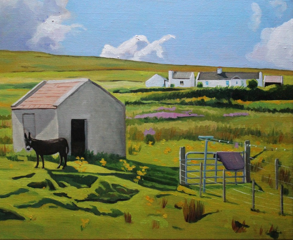 Painting of a Donkey of Arranmore Island