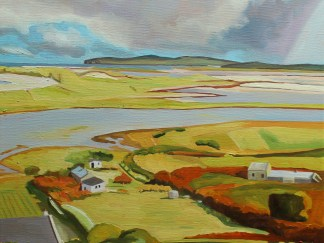 Painting of the view to Magheraroarty, Donegal