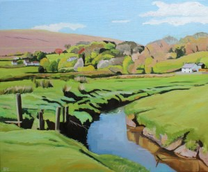 painting of Lanmadoc, North Gower