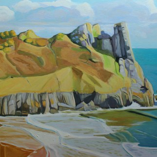 The Incoming Painting of Great Tor, Gower