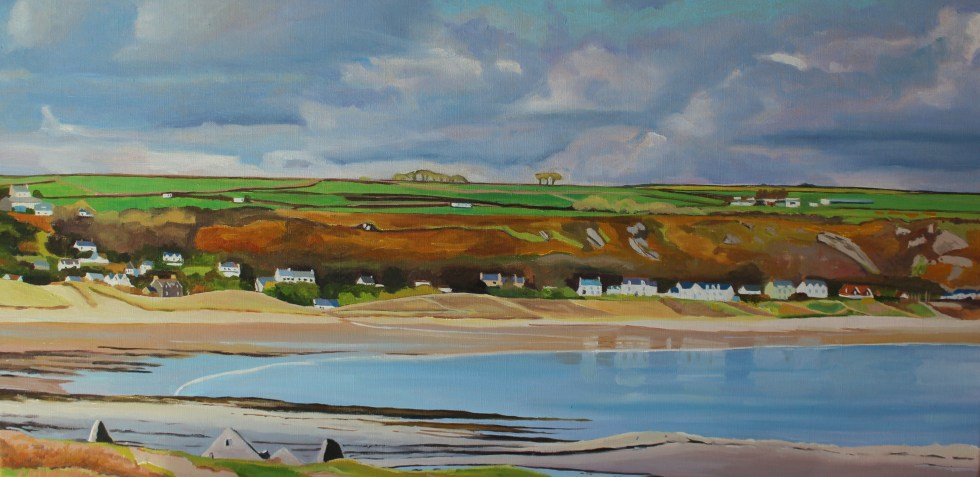 Painting of Port Eynon and Horton from Salt House, Gower