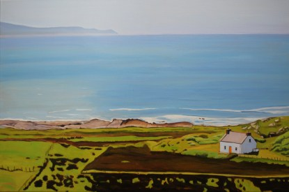 Painting of the view from Knockfola, Donegal