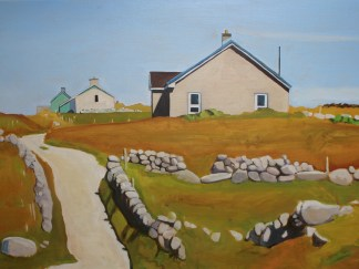 Painting of Houses on Bloody Foreland