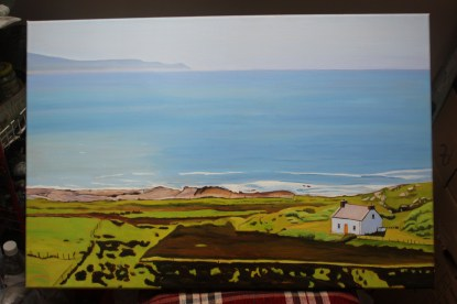 Landscape painting of view kfola, Donegal