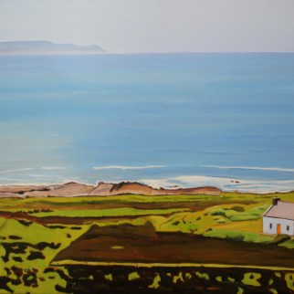 Landscape painting of view from Knockfola, Donegal