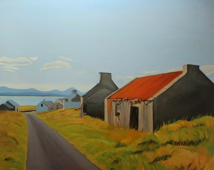An oil painting of Inishbofin island, Donegal, Ireland.
