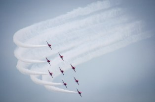 The Red Arrows at Eastbourne Airshow