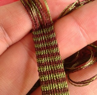 brickband, silke, 1300-tal