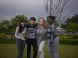 Roomie pictures <3 From left: Yvonna (HK), Tiffany (HK), me, Trisha (Kenya)
