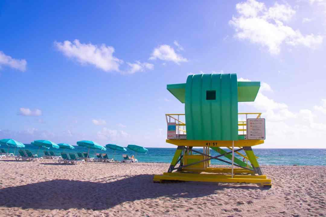 Miami Photos - Miami Beach Guard Tower