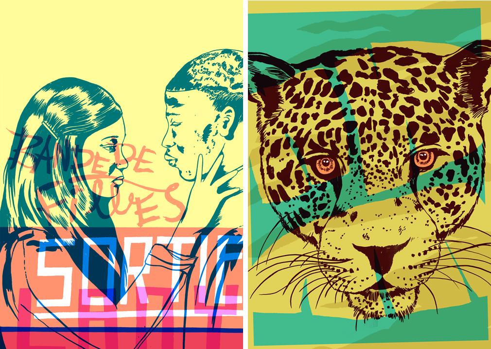 Joseph Vass Screen Print Yellow Leopard