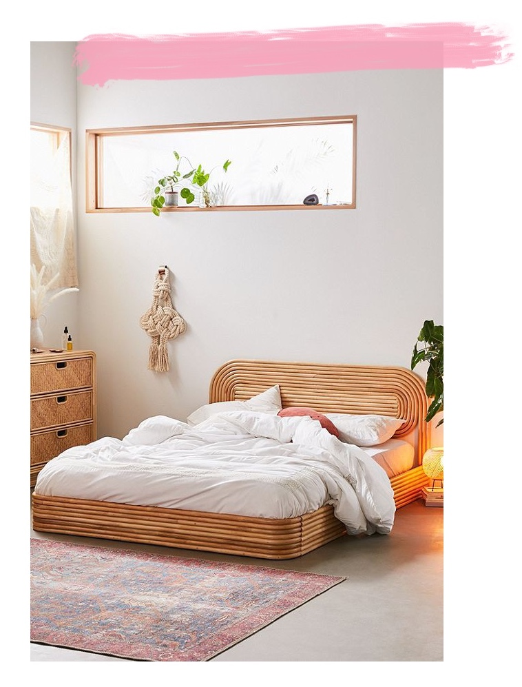 Seventies Bohemian Rattan Bed from Urban Outfitters