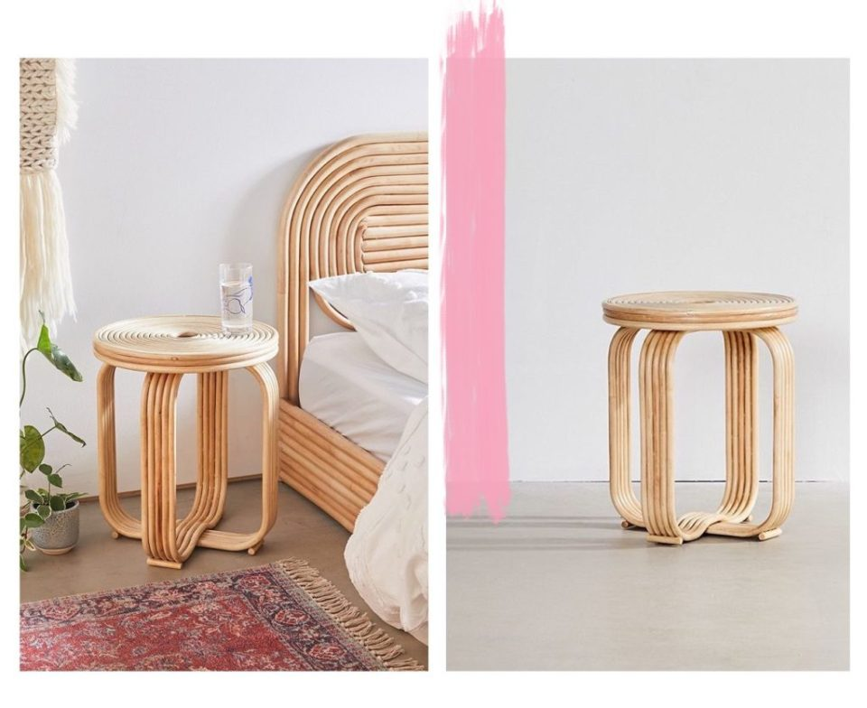 Seventies Bohemian Rattan Stool from Urban Outfitters