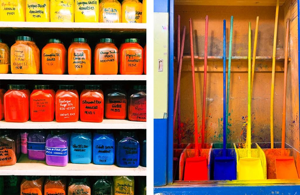 coloured pigments at caran d'ache factory