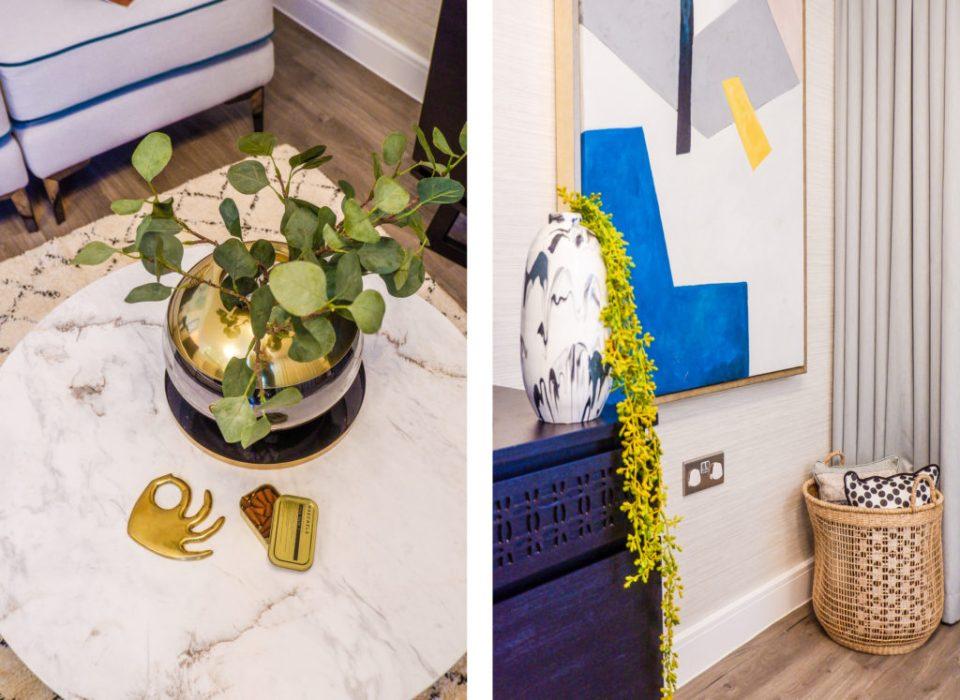modern London apartment with botanicals