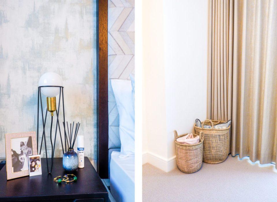 modern London apartment with basket storage