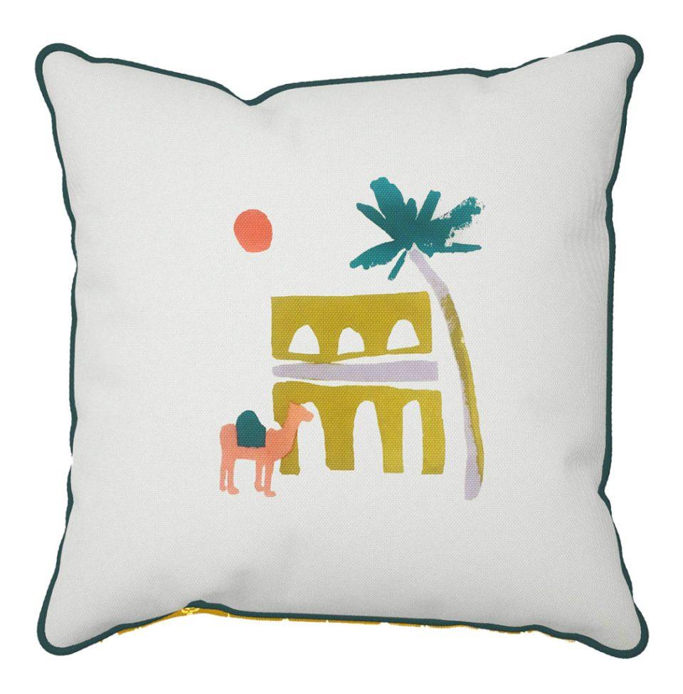 desert oasis garden cushion