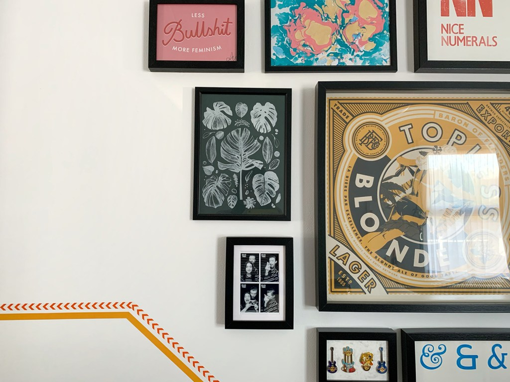 snippet of gallery wall