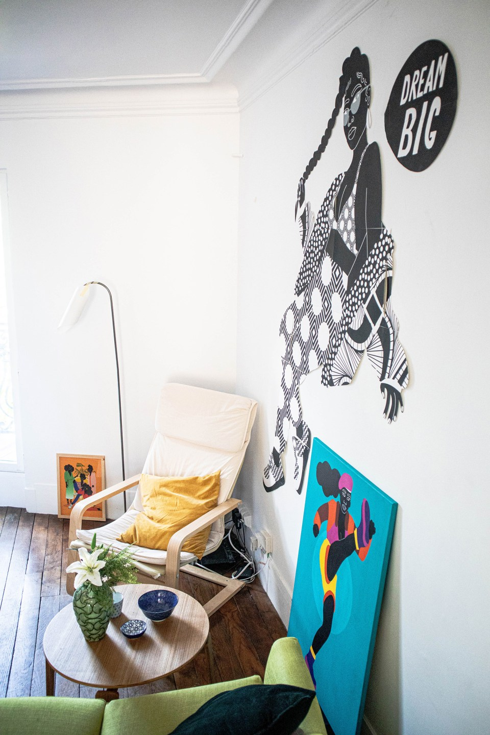 seating area with IKEA chairs