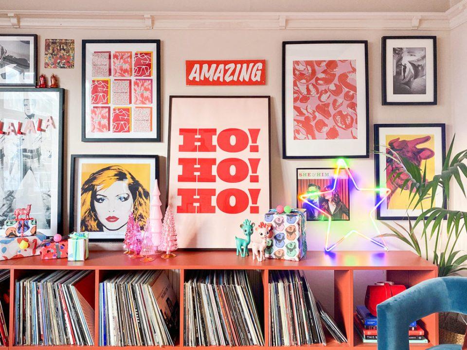 alternative pop art christmas setup