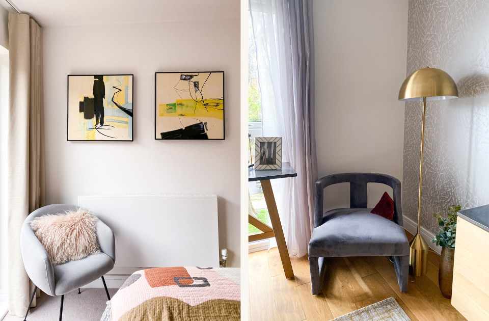 cosy corners in bedroom and living room for autumn and winter styling