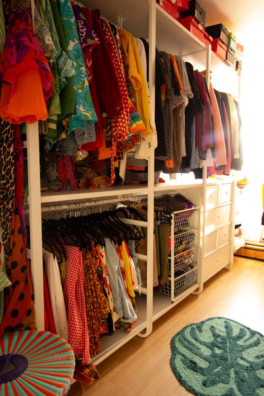 dressing room with custom storage system