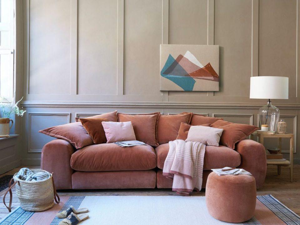 loaf pink sofa