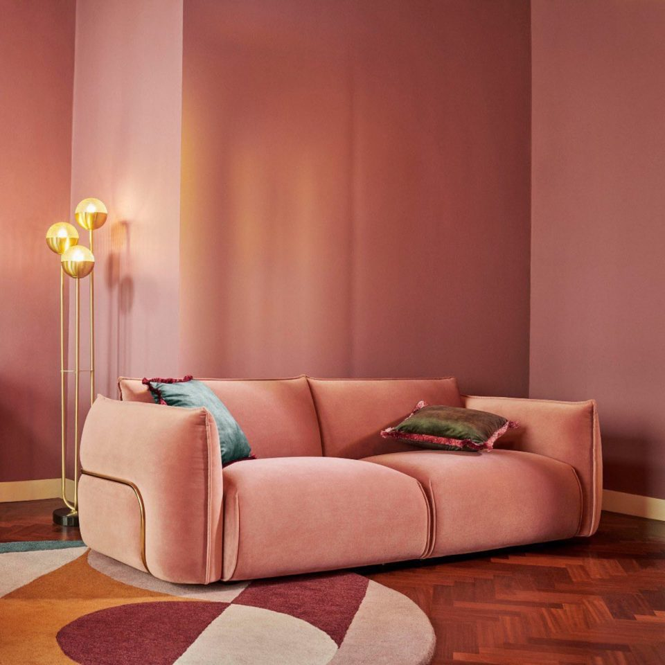 pink 70s style setup by Made.com