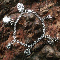 Silver Creature Charm Bracelet by Emma Keating