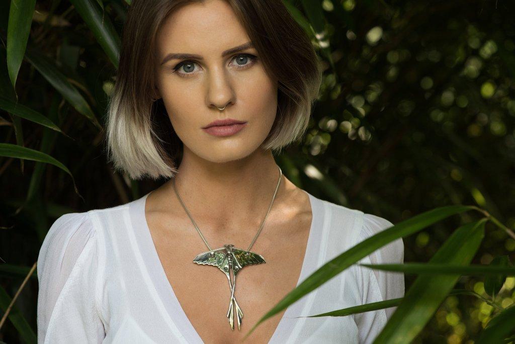 Moon Moth Pendant - Emma Keating Jewellery CW2