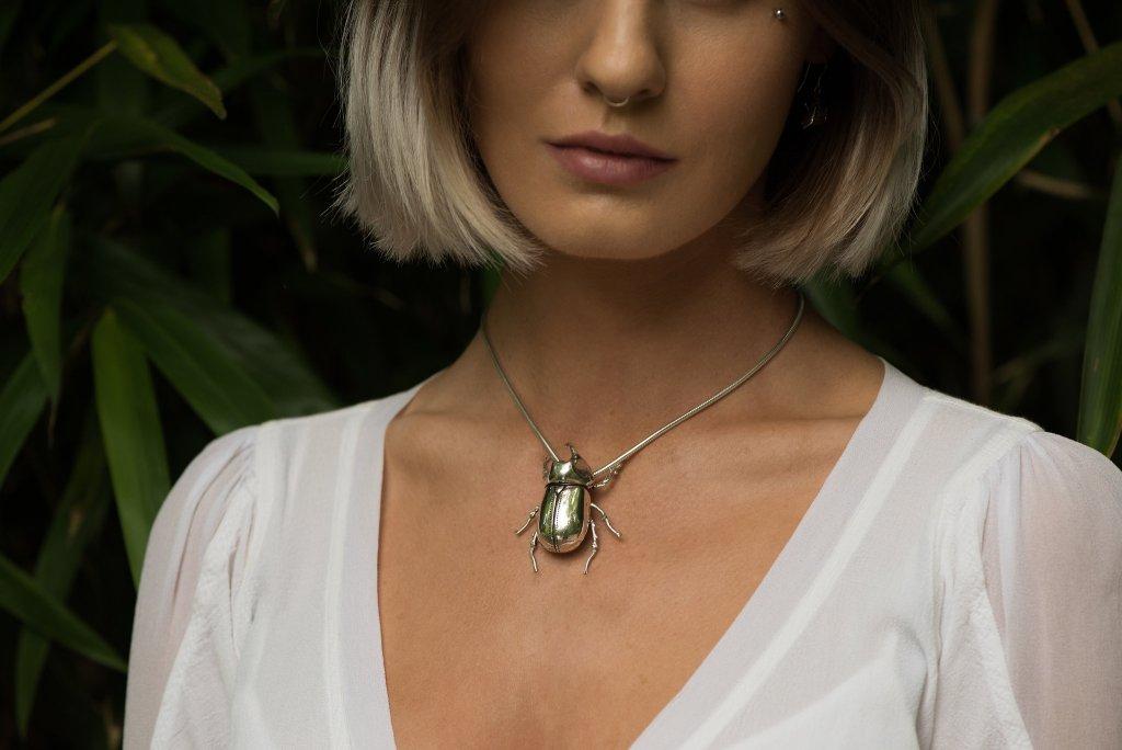 Rhino Beetle Pendant - Emma Keating Jewellery CW2