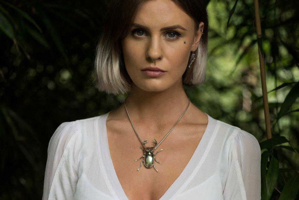 Stag Beetle Pendant - Emma Keating Jewellery CW2