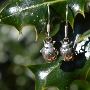 Ladybird earrings (drop) - Emma Keating Jewellery