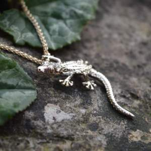 Moorish Gecko Pendant in gold - Emma Keating Jewellery