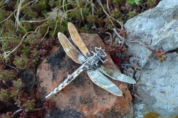 Dragonfly Brooch underside s - Emma Keating Jewellery