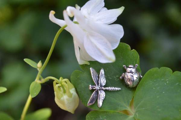 Dragonfly Ladybird studs 4 Emma Keating Jewellery