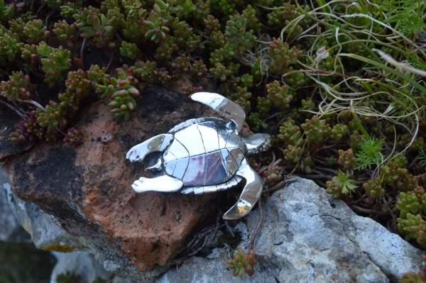 Large Turtle Ornament underside s - Emma Keating Jewellery