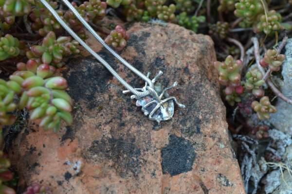 Shieldbug Pendant underside s - Emma Keating Jewellery