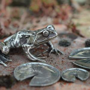 Common Frog & Lilypads L2s - Emma Keating Jewellery
