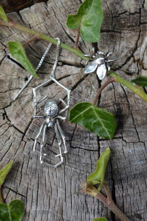 Spider & Fly Earrings 3s - Emma Keating Jewellery