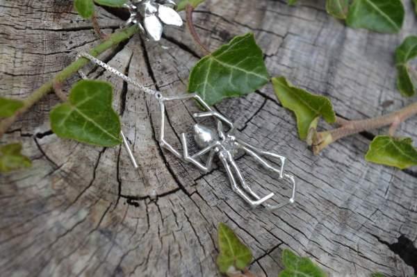 Spider & Fly Earrings underside s - Emma Keating Jewellery