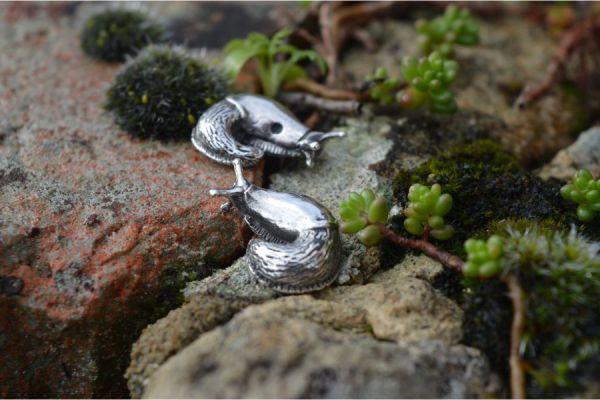 Slug Earrings in Sterling Silver by Emma Keating Jewellery