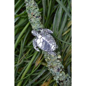 Green Sea Turtle Ring in Sterling Silver by Emma Keating Jewellery