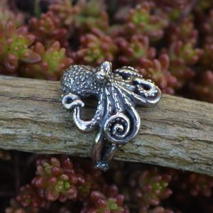 Octopus Ring in Sterling Silver by Emma Keating Jewellery