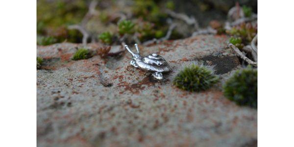 Silver Snail Stud Earring by Emma Keating Jewellery