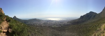 Halfway through my hike up Table Mountain