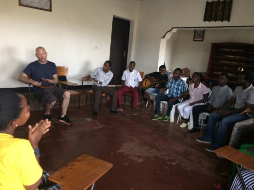 The Kigali Music School during community music time