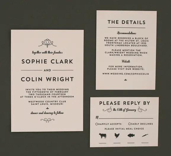 Modern Deco Wedding Invitation