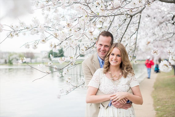 Emily Clack Photography - national mall cherry blossoms engagement